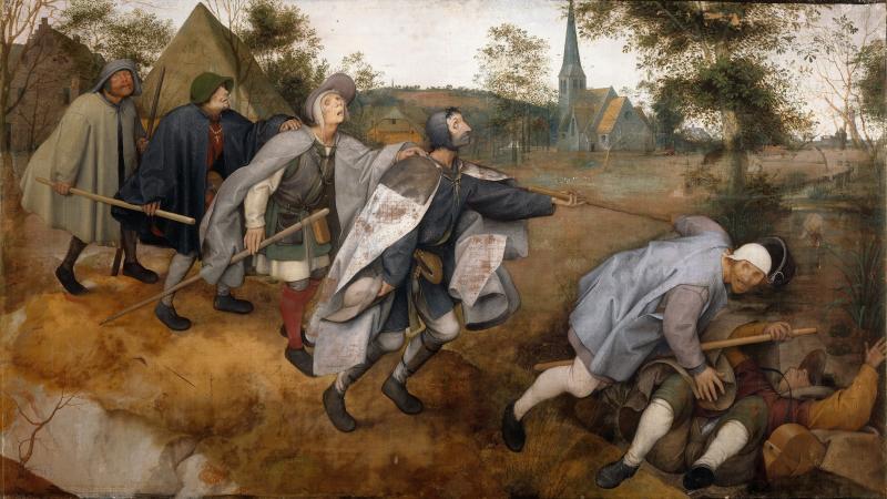 Idősebb Pieter Brueghel: Vak vezet világtalant (1568)